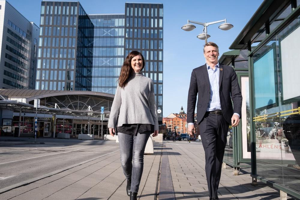 Märta Stenevi och Per Bolund.