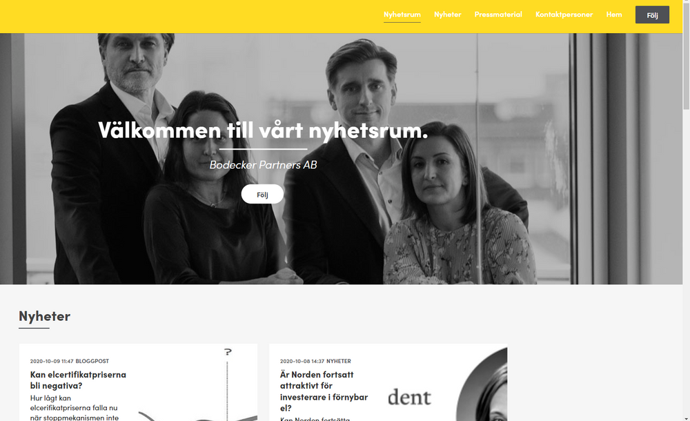 Nyhetsrum Bodecker Partners