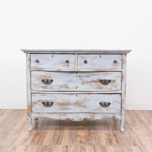 Vaisselier Shabby Chic: Antique Shabby Chic Dresser In Light Gray