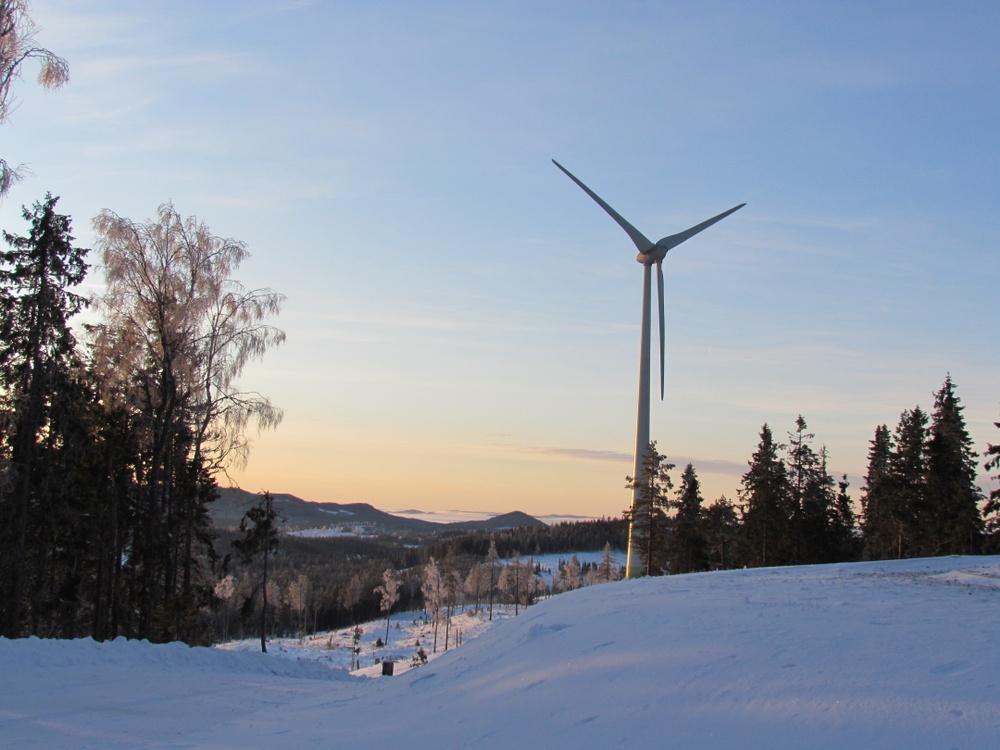 Svensk NaturEnergis vindkraftverk i Vansbro.