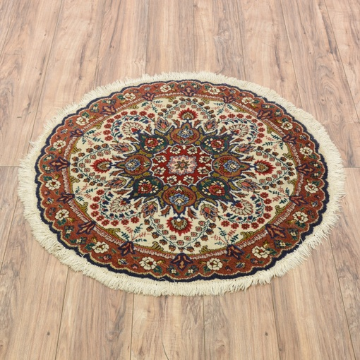 Persian Bohemian Round Fringe Floral Area Rug Loveseat