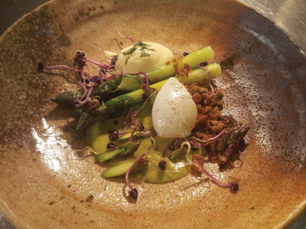 Slow cooked pheasant egg
