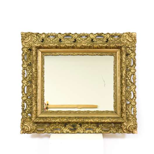 Ornate Antique Carved Gold Mirror