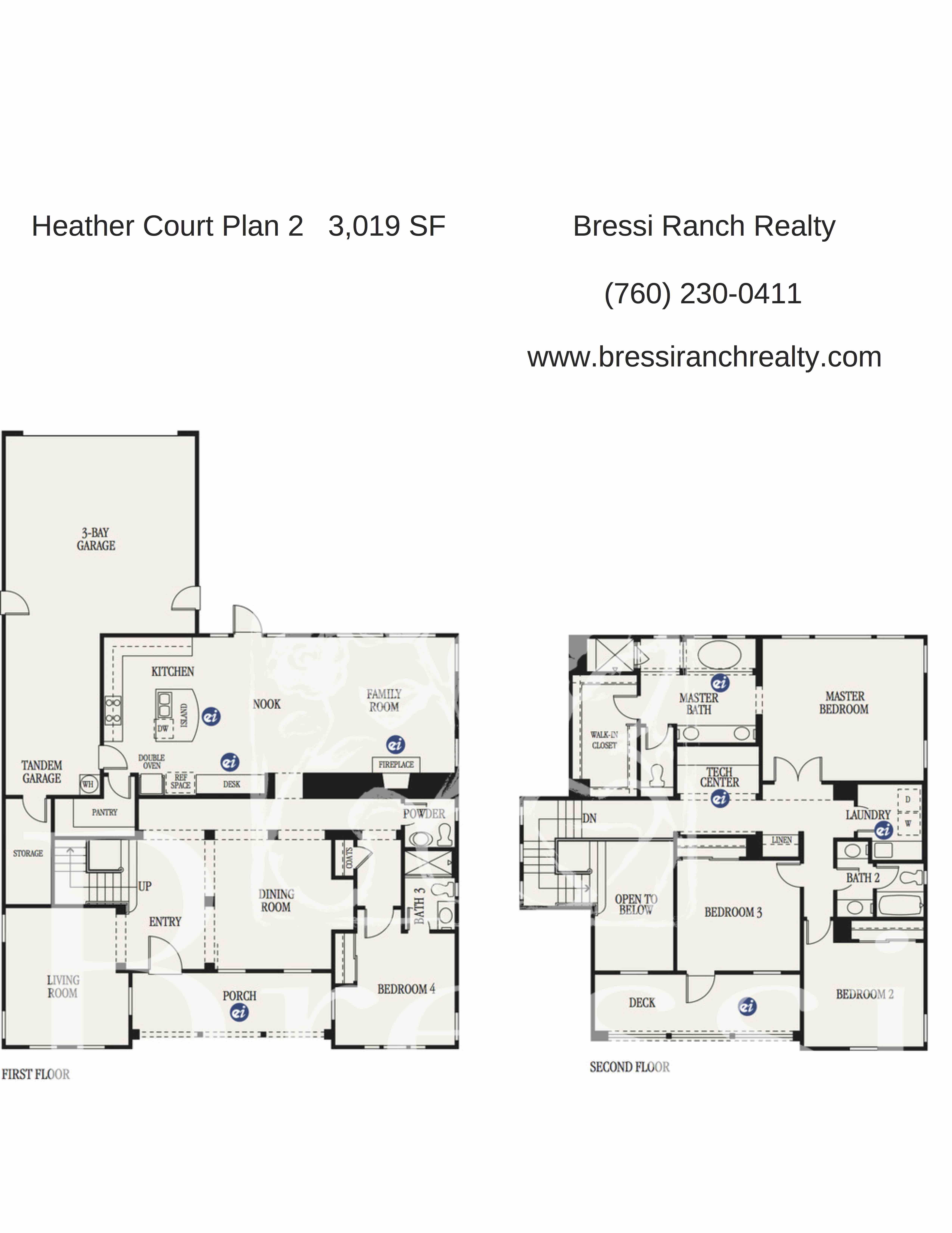 Heather Court Plan 2 Bressi Ranch