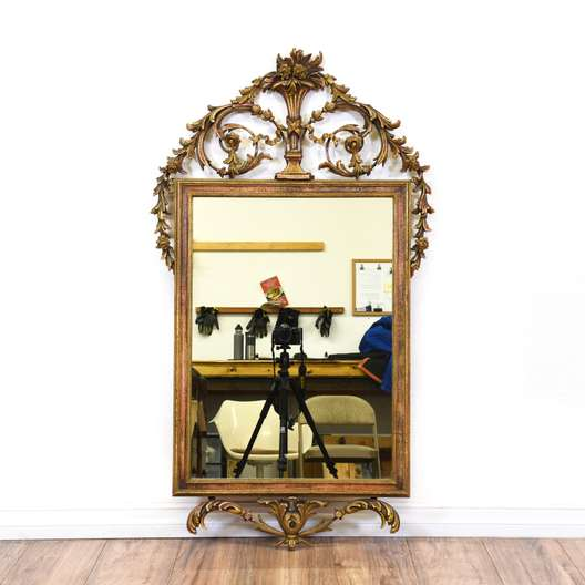 Gilded Gold Rococo Style Mirror