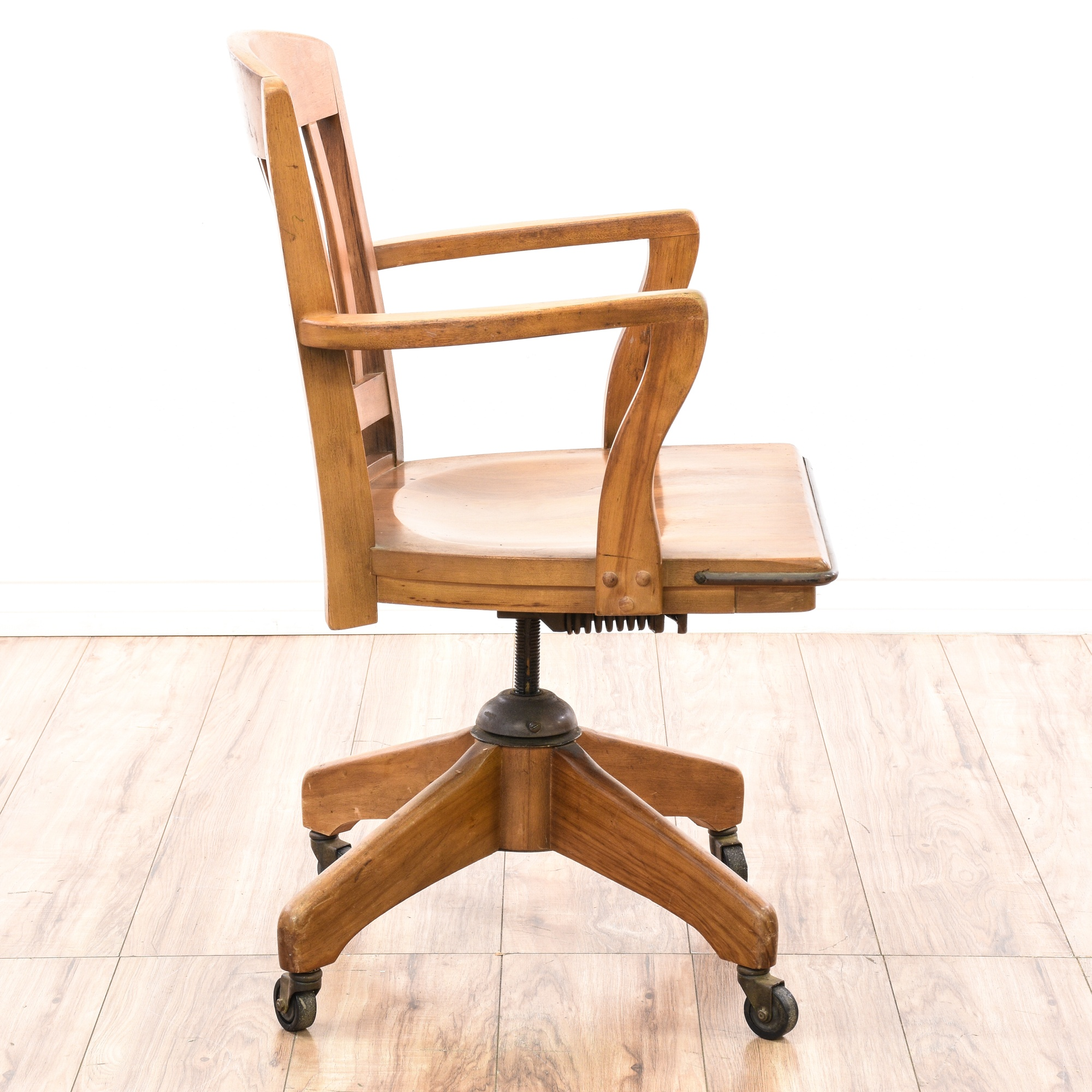 """Boiling Chair Co."" Banker's Swivel Desk Chair | Loveseat ..."