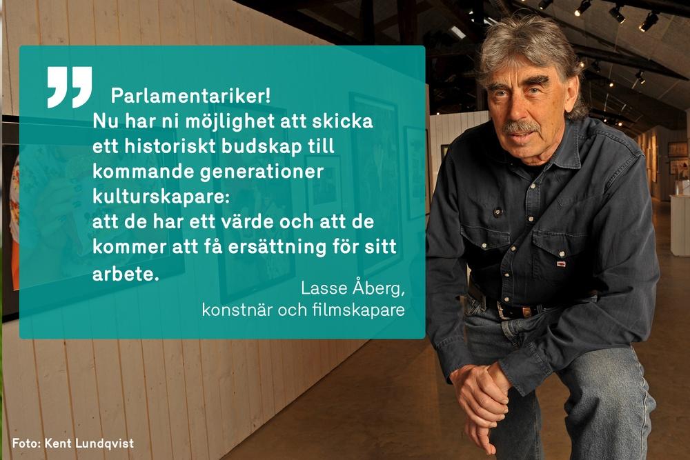 Lasse Åberg är en av 150 bildskapare som skrivit under uppropet för de nya upphovsrättslagarna i EU.