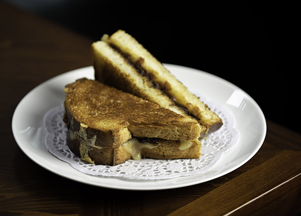Tasty Lancashire and gentleman's relish grilled sandwich
