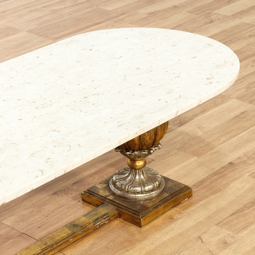 Italian Marble Brass Base Coffee Table
