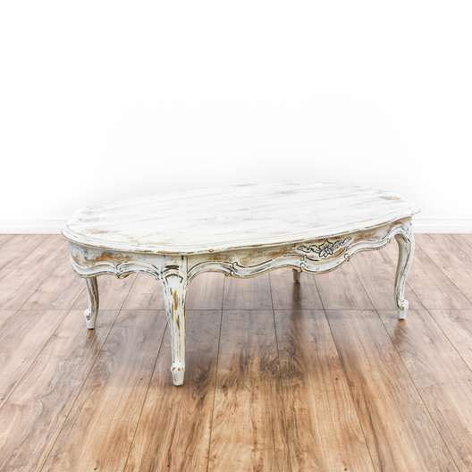 White Shabby Chic French Provincial Coffee Table