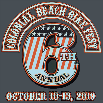 6th Annual Colonial Beach Bike Fest - October 10-13, 2019