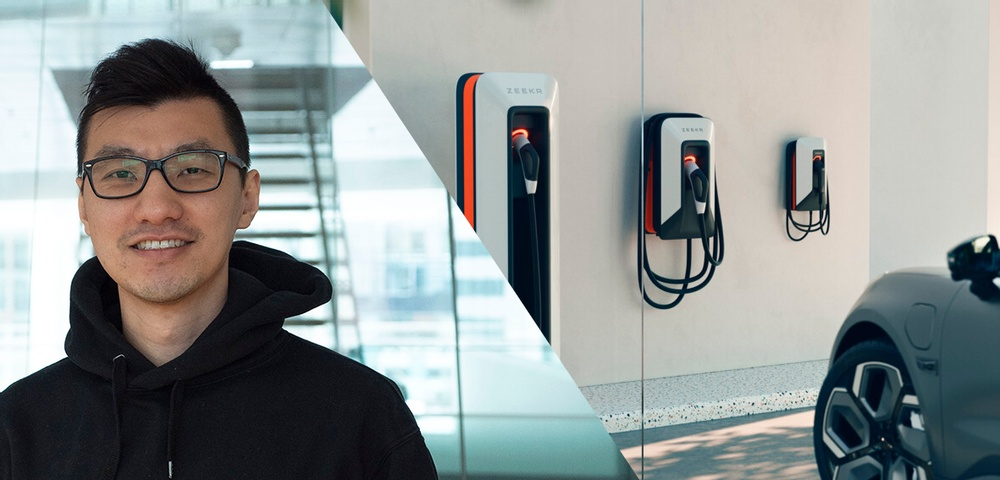 """""""I genuinely believe that electrification and digitalization are irresistible trends within the automotive industry"""", says PhD student Yizhou Zhang."""