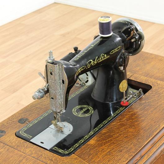 Singer Sewing Cabinet W Bel Air Sewing Machine Loveseat Vintage Furniture Los Angeles