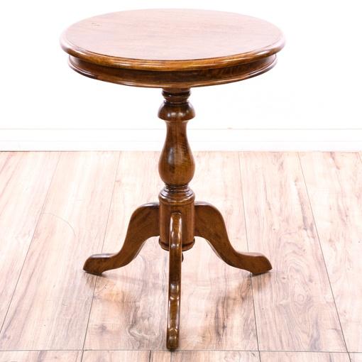 round pedestal end table loveseat vintage furniture san diego los angeles. Black Bedroom Furniture Sets. Home Design Ideas