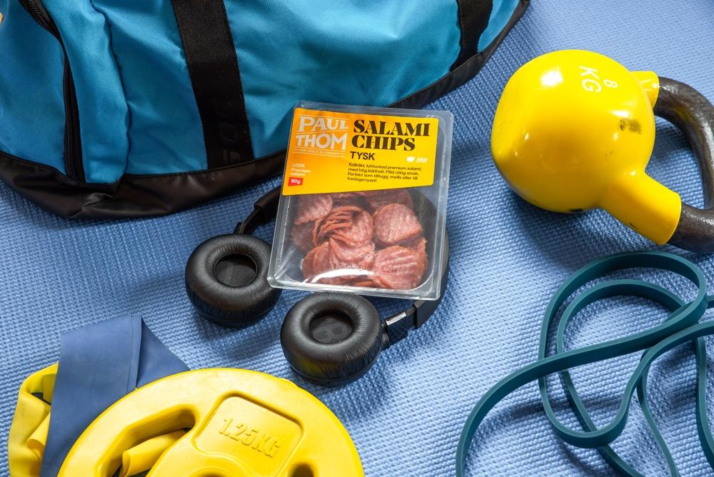 Återhämtning efter träning - ät salamichips.