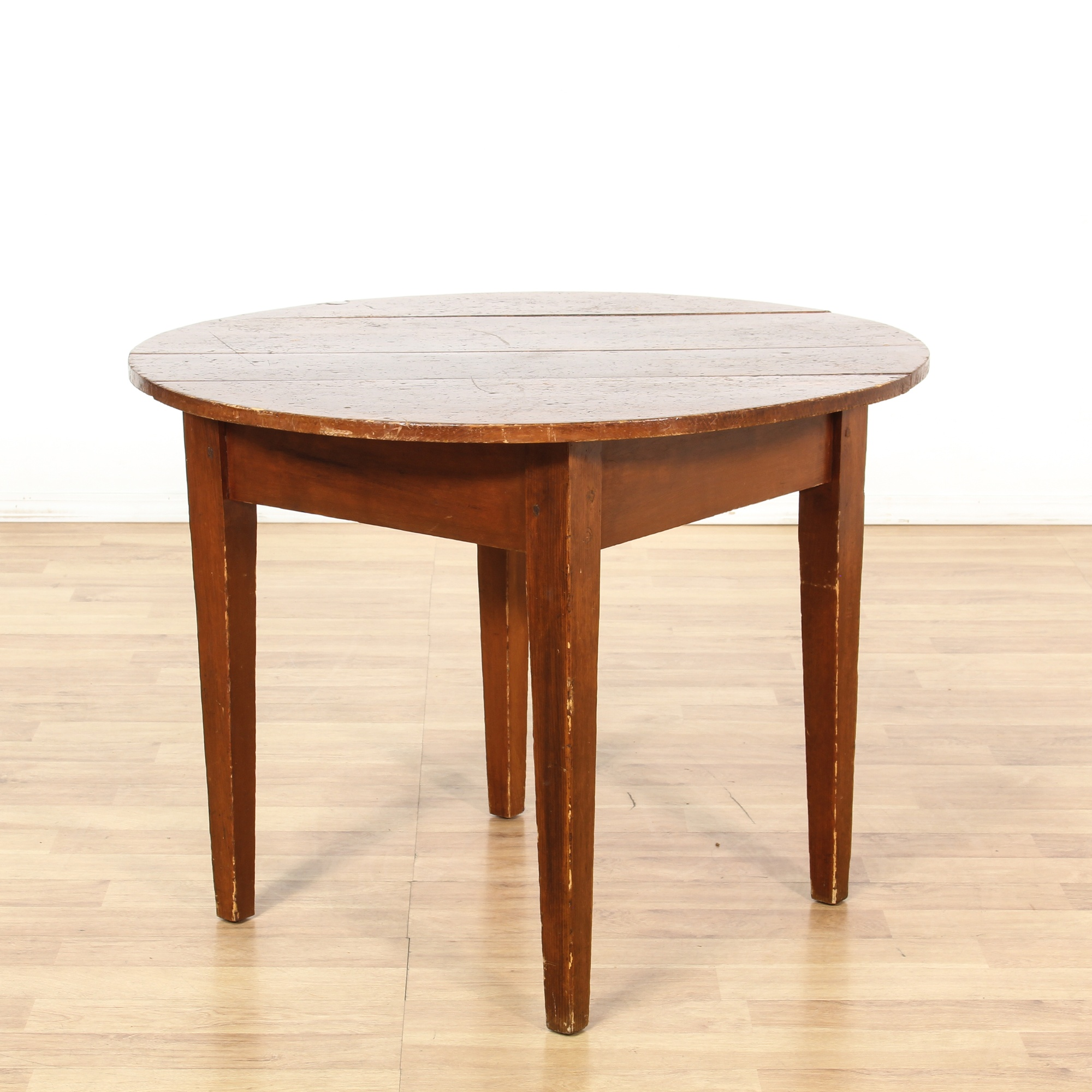 Dining Room Furniture San Diego: Round Rustic Farmhouse Breakfast Dining Table