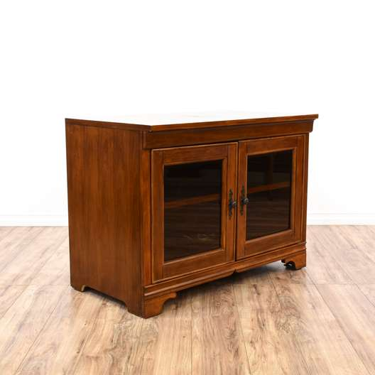 Traditional Cherry Media Center Cabinet