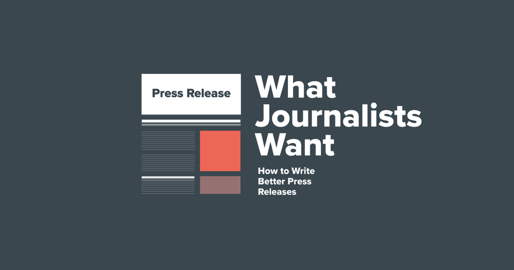 What.journalists.wants.blog. Illustration press release.