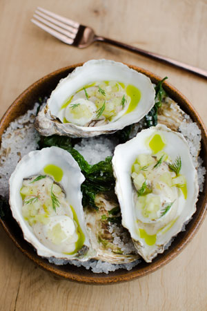 Pickled Porthilly oysters