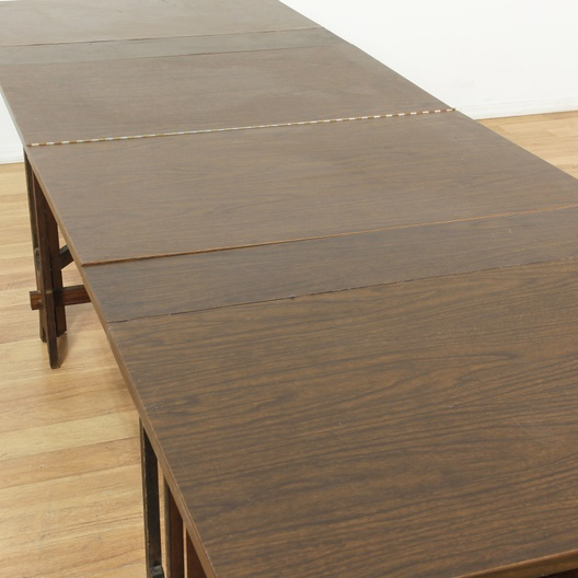 Long collapsable mid century modern dining table for Long modern dining table