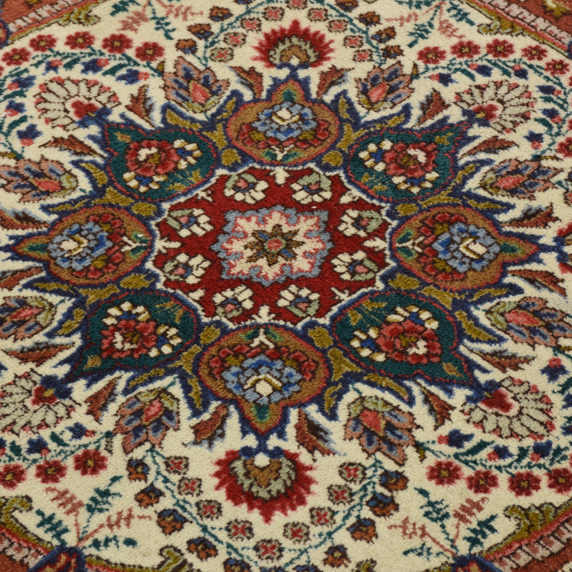 Persian Bohemian Round Fringe Floral Area Rug Loveseat