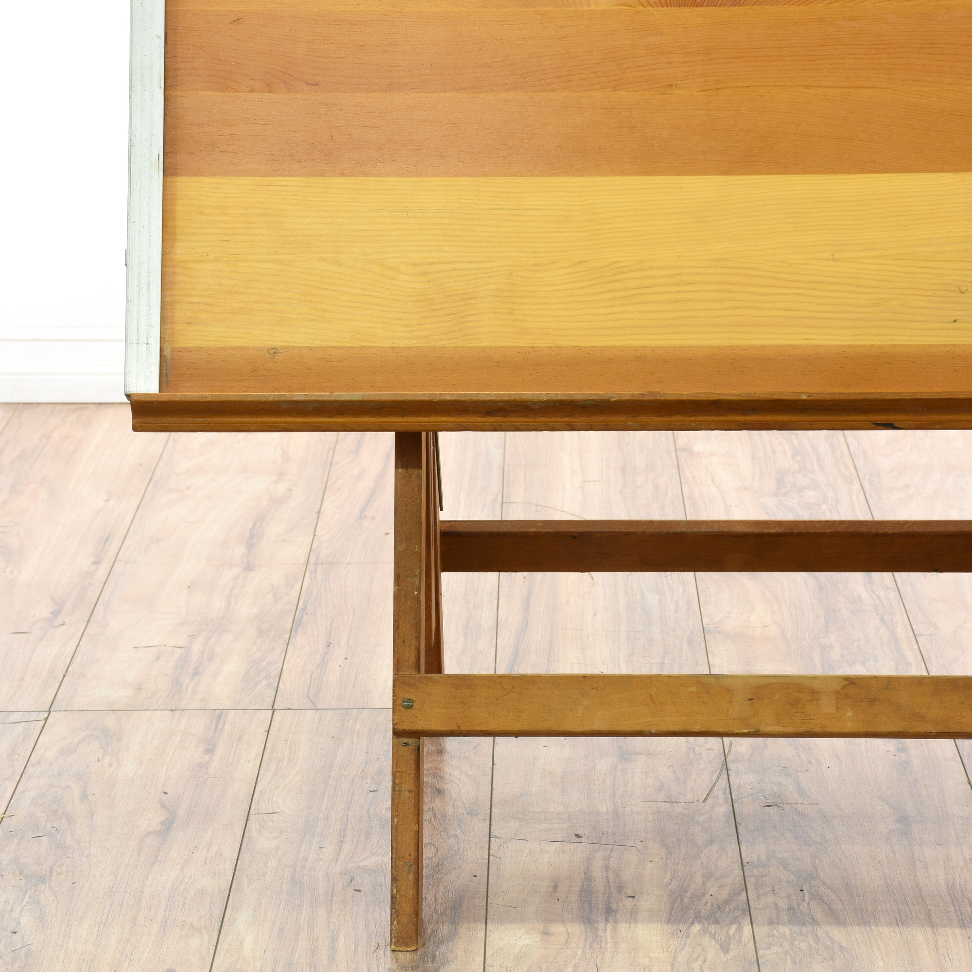 Maple Adjustable Height Drafting Table Desk Loveseat