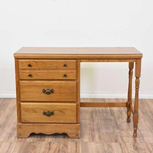 Vintage Pedestal Desk
