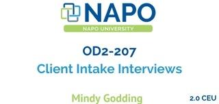 OD2-207 Client Intake Interviews
