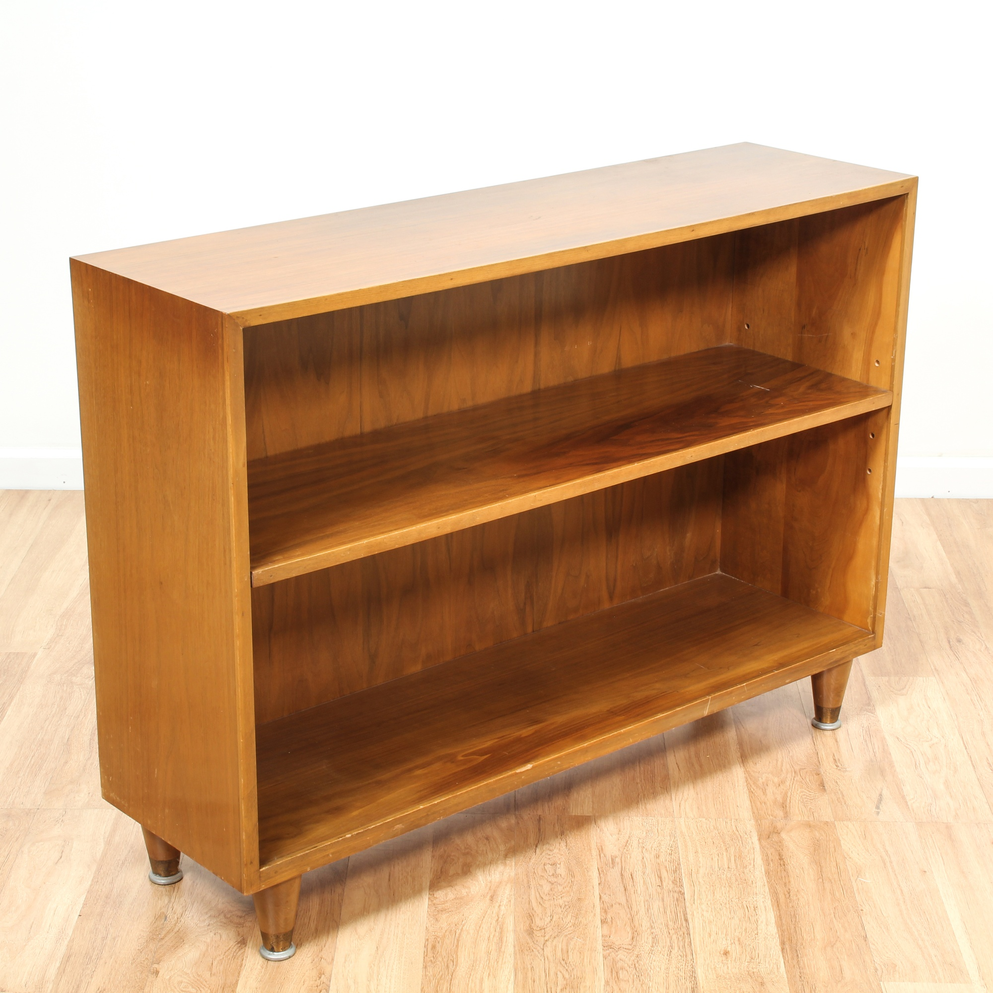 Image of: Mid Century Modern Low Bookcase Loveseat Online Auctions Los Angeles