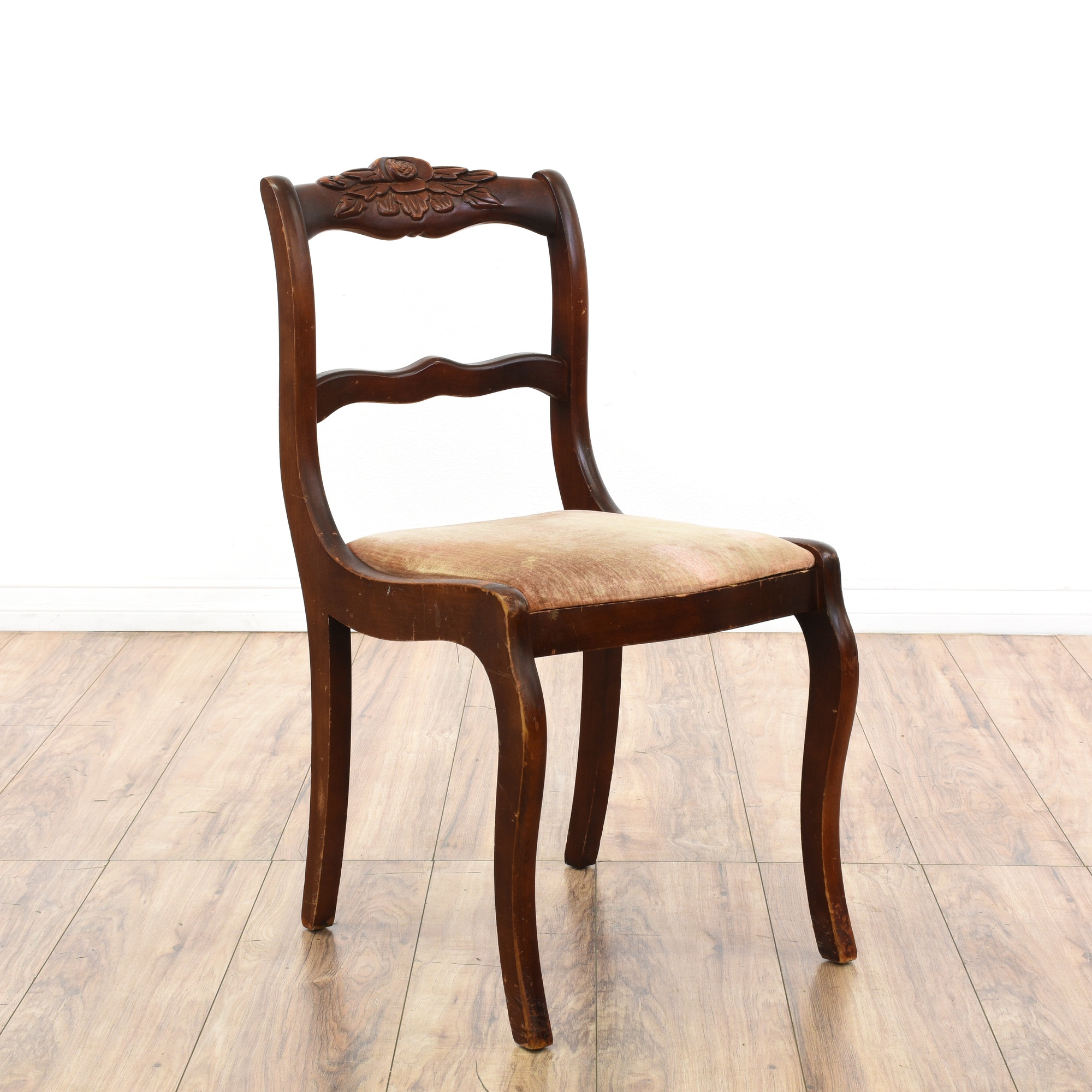 Pair Of Carved Rose Duncan Phyfe Dining Chairs Loveseat