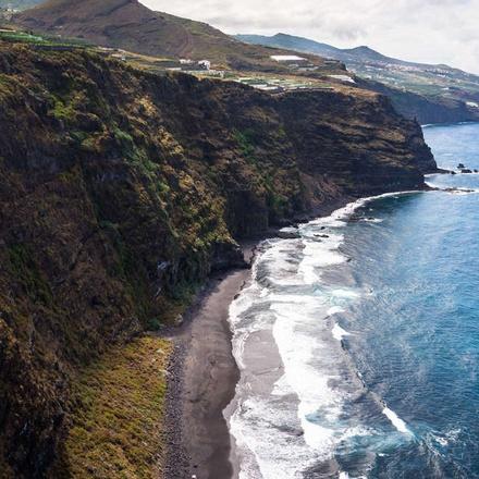 Cliffs on the island La Palma