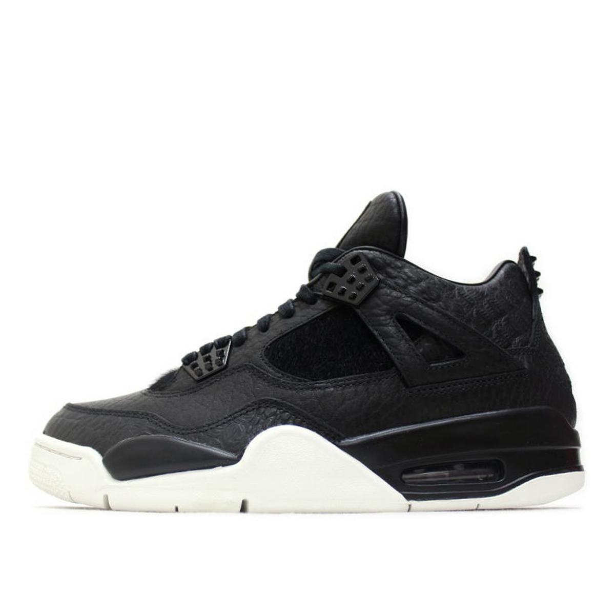 Air Jordan Nike AJ 4 IV Retro Pony Hair Black