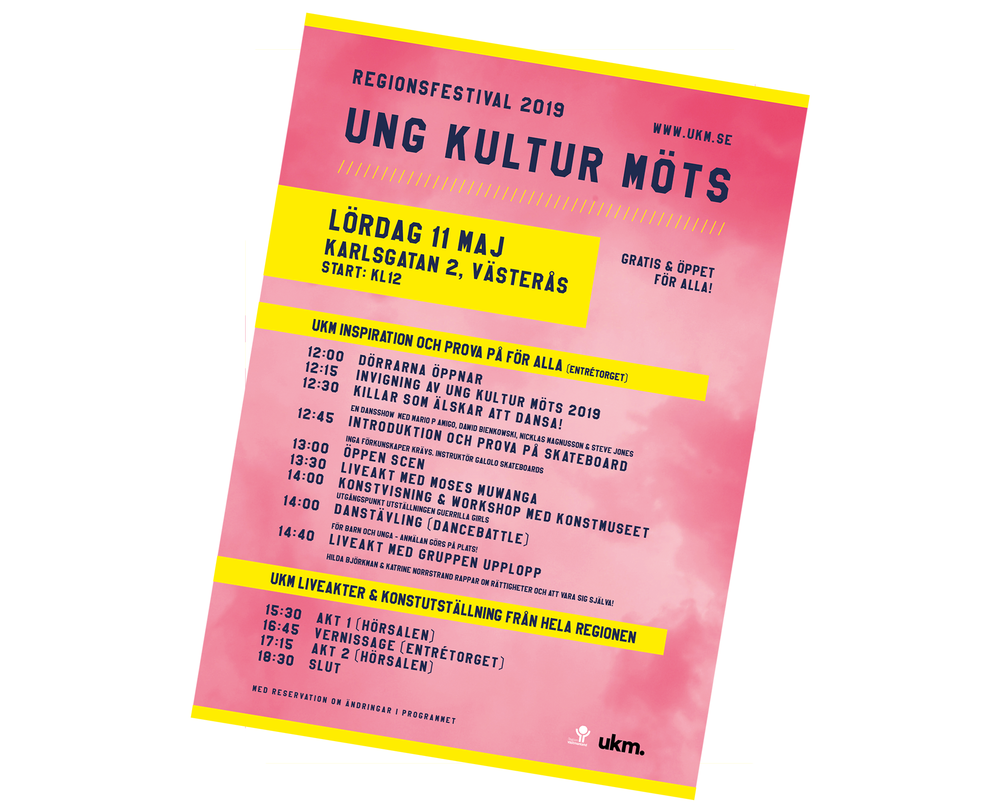 Poster UKM regionfestival 2019.