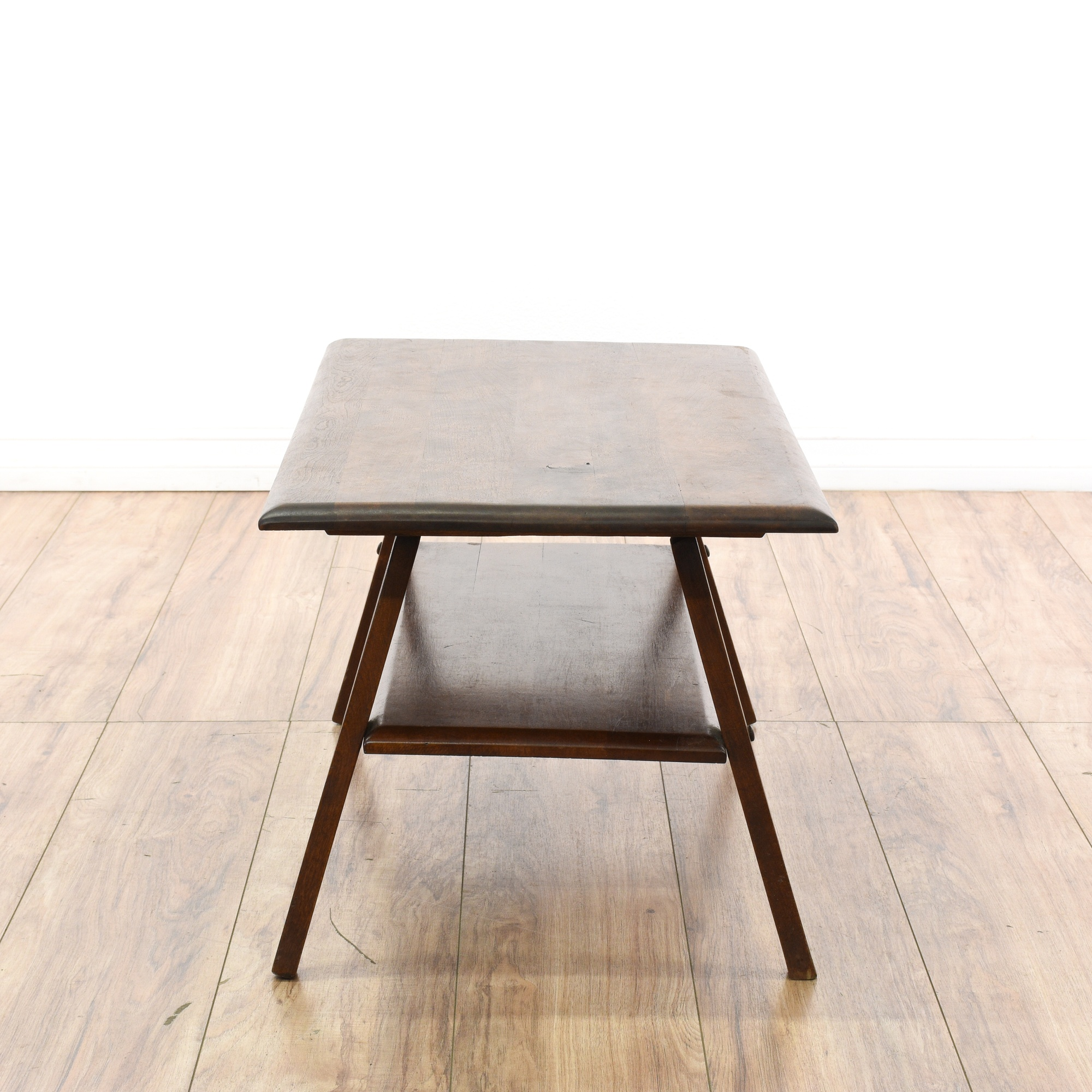 Mid Century Modern Oak Tiered Coffee Table