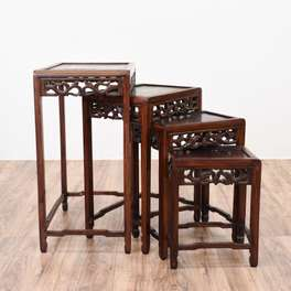 Antique Oriental Rosewood Nesting Tables