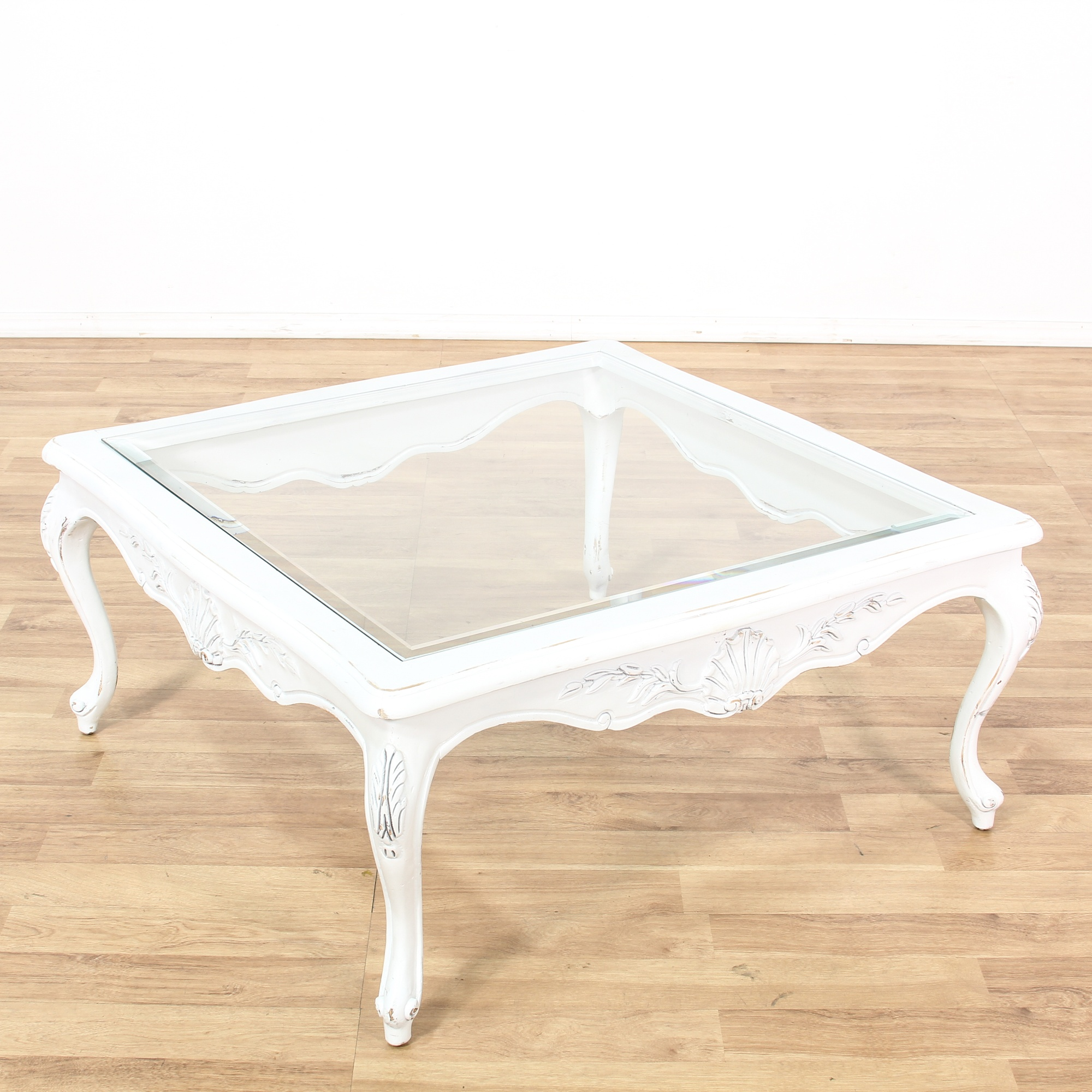 Shabby Chic Coffee Table Nz: Shabby Chic White Square Coffee Table