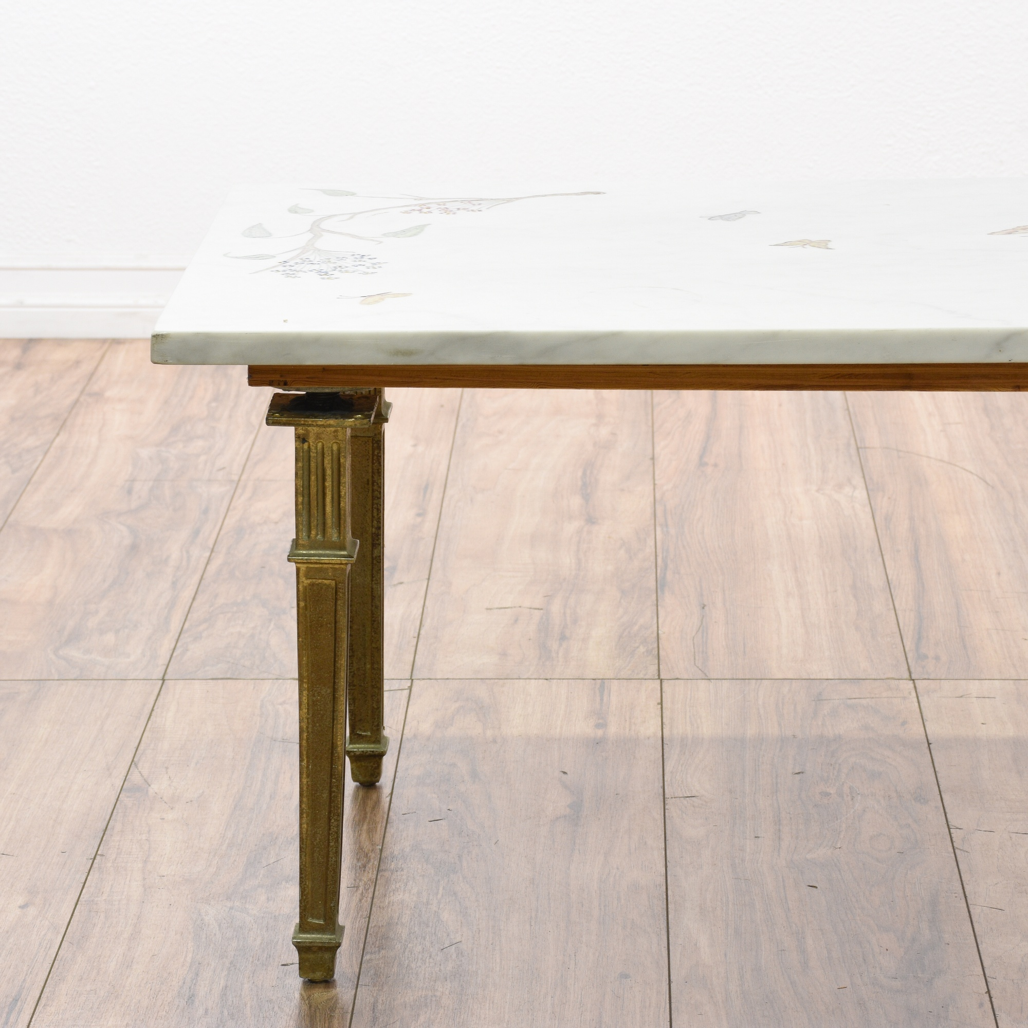 Marble Coffee Table Marks And Spencer: Engraved & Painted Marble Top Coffee Table