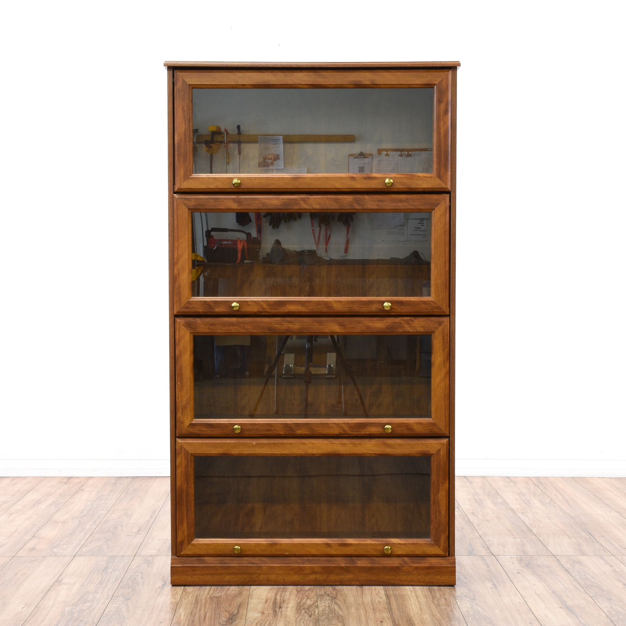 Glass Front 4 Tier Lawyer S Bookcase Loveseat Vintage