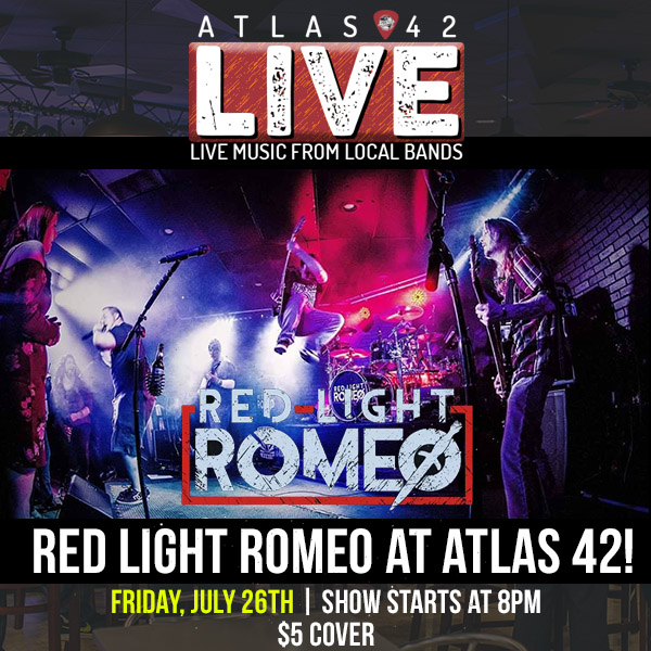 Atlas 42 - Red Light Romeo - July 26, 2019, 8pm