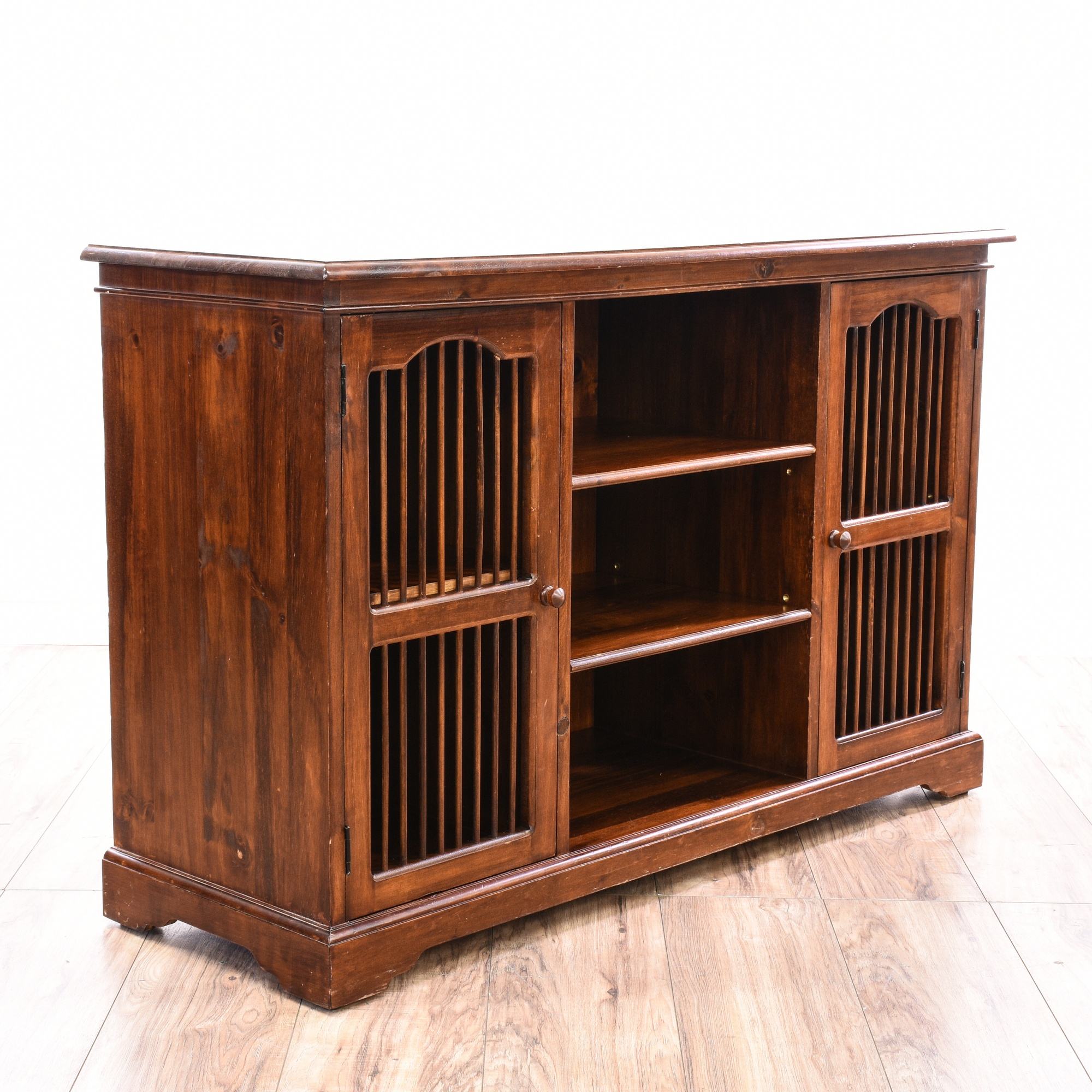 Foyer Console Cabinet : Media cabinet entryway console table loveseat vintage