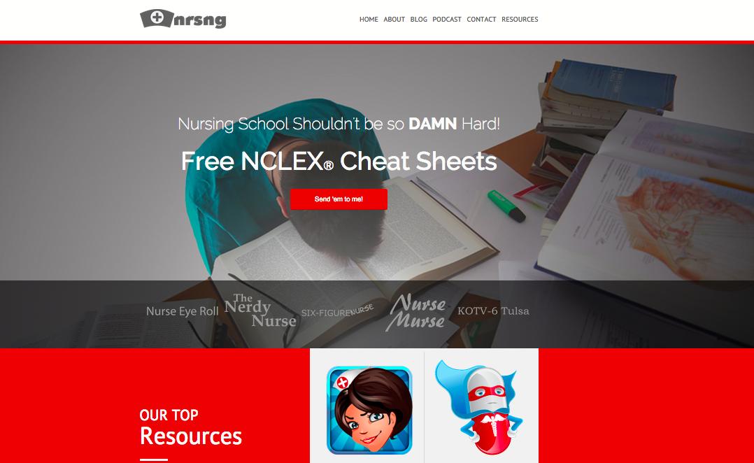 NRSNG homepage teach online