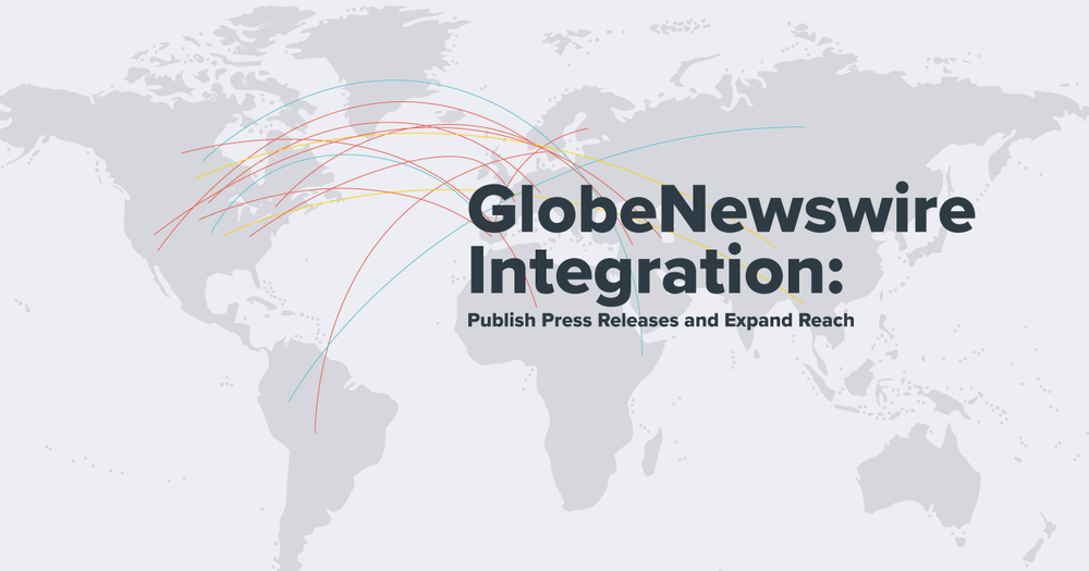 Global press release. World map. Grey