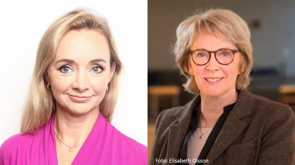 Anna Nilsson Vindefjärd, generalsekreterare Forska!Sverige och Lena Gustafsson, ordförande Forska!Sverige