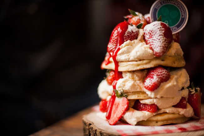 Polo Bar's Royale pancake stack