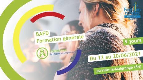 Représentation de la formation : Formation Générale BAFD Juin 2021 - Jarville-la-Malgrange (54)