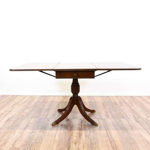 Duncan Phyfe Drop Leaf Dining Table w/ Drawer