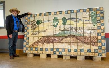 Dévoilement d'une oeuvre identitaire à St-Norbert-d'Arthabaska