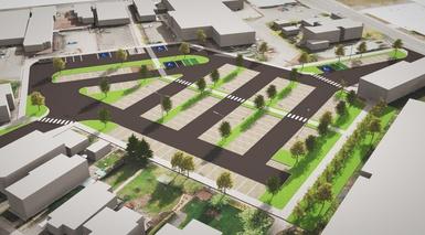 Réaménagement du stationnement Pierre-Laporte