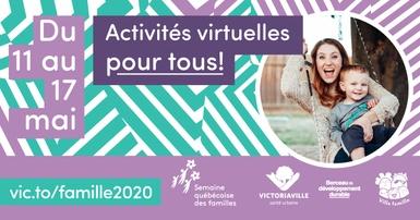 La Semaine québécoise des familles 2020, un rendez-vous sur le Web!