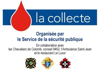 Collecte de sang annuelle des pompiers de Victoriaville